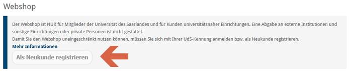 Screenshot: Neukunden-Registrierung